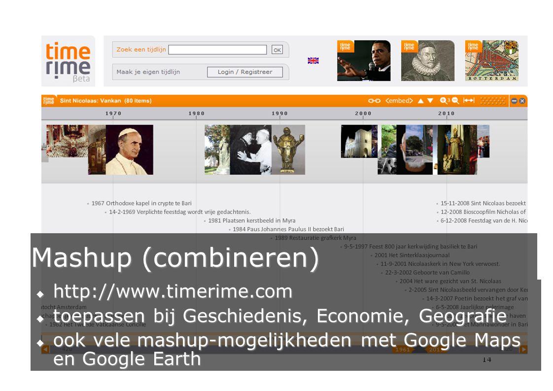Mashup (combineren) http://www.timerime.com