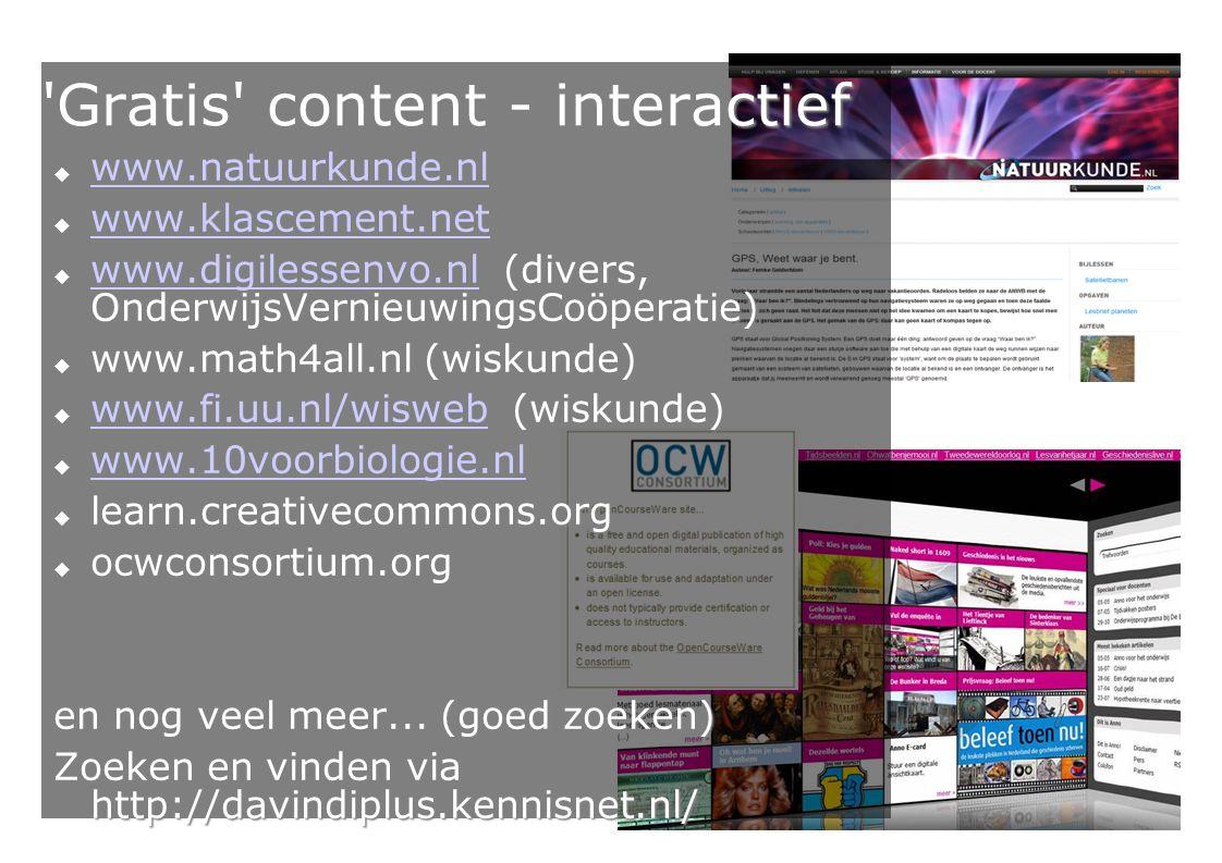 Gratis content - interactief