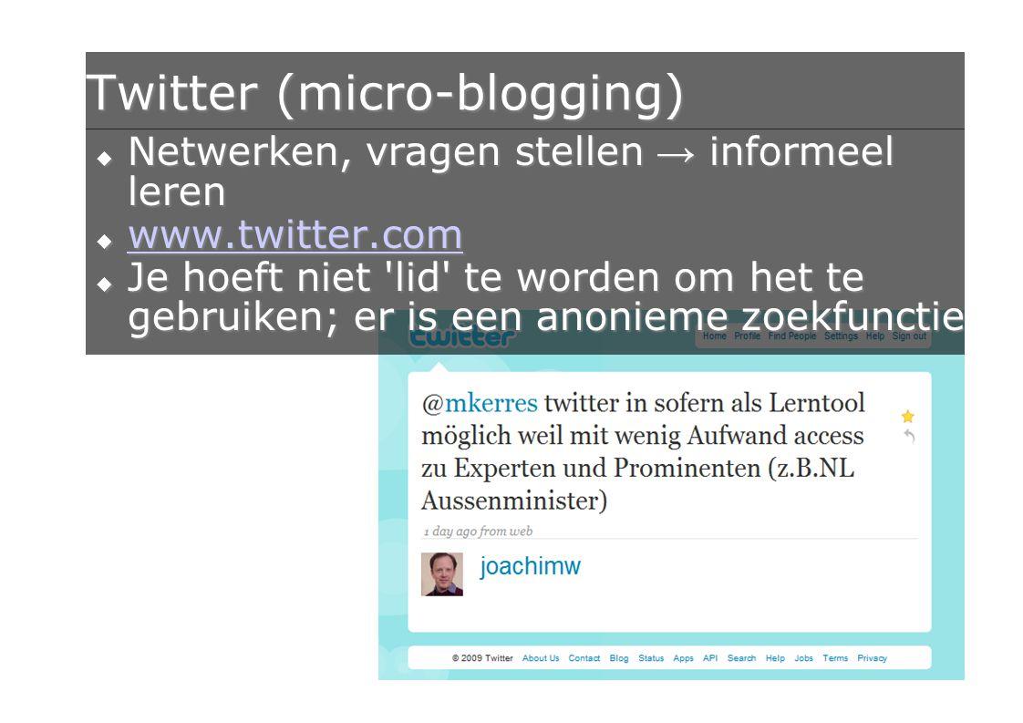 Twitter (micro-blogging)
