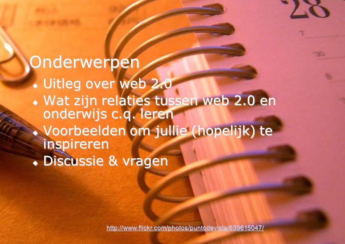Onderwerpen Uitleg over web 2.0