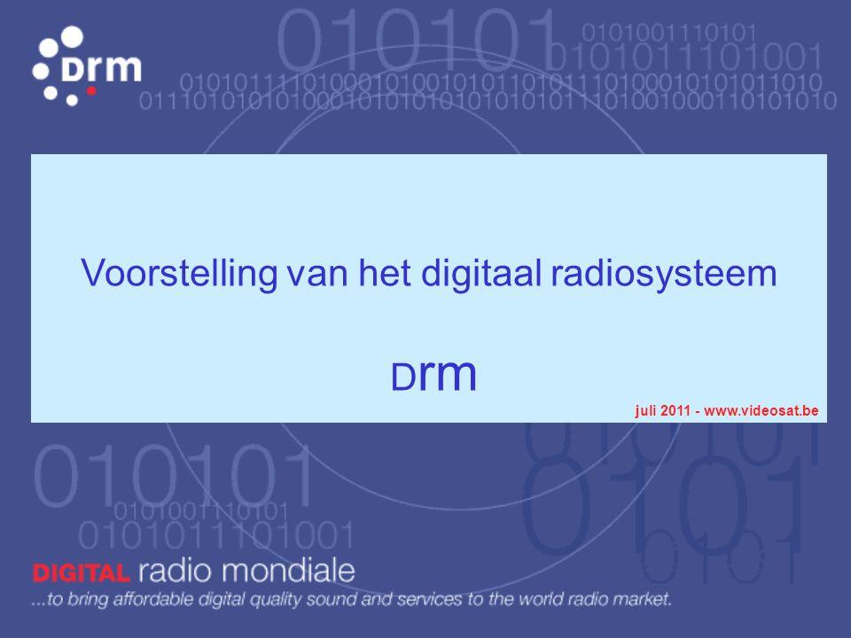 Voorstelling van het digitaal radiosysteem Drm