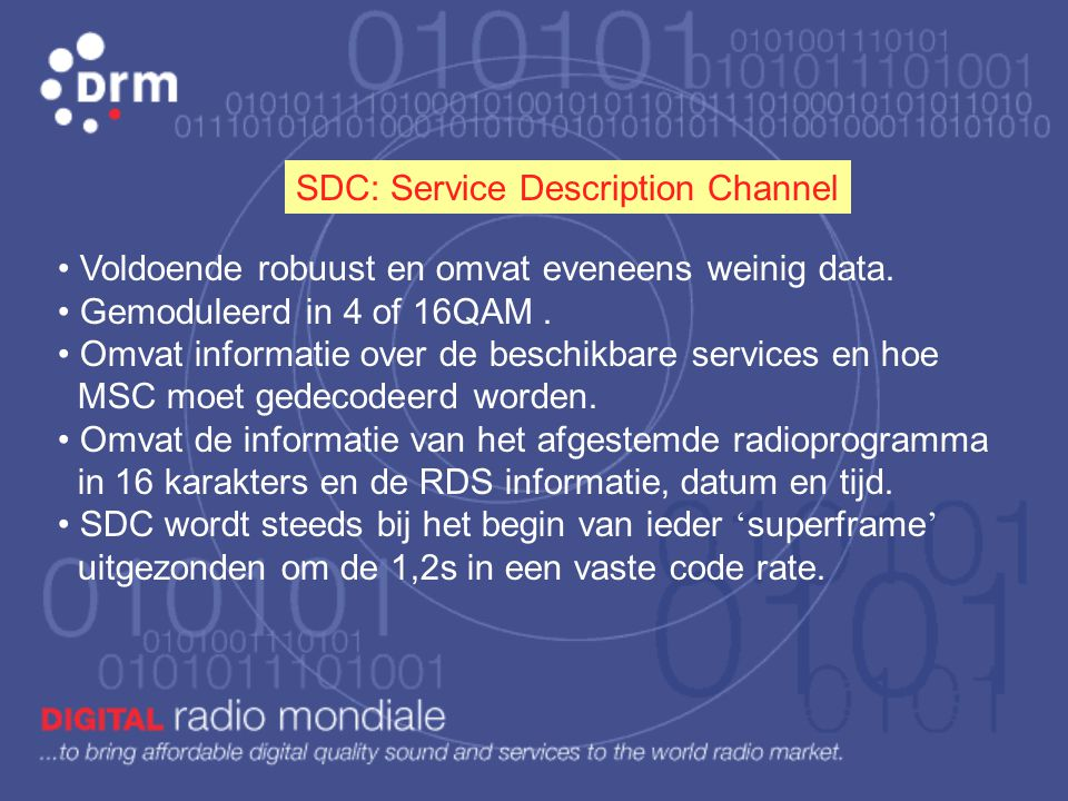 SDC: Service Description Channel