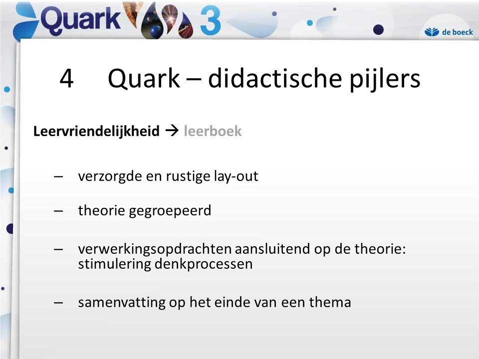 4 Quark – didactische pijlers