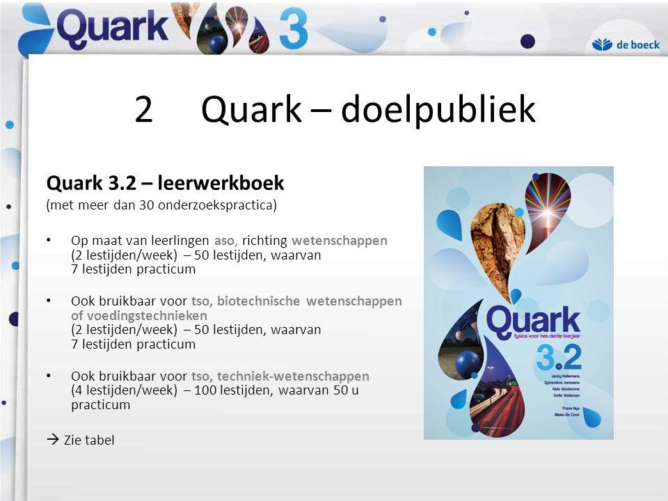 2 Quark – doelpubliek Quark 3.2 – leerwerkboek