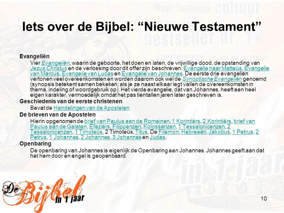 Iets over de Bijbel: Nieuwe Testament