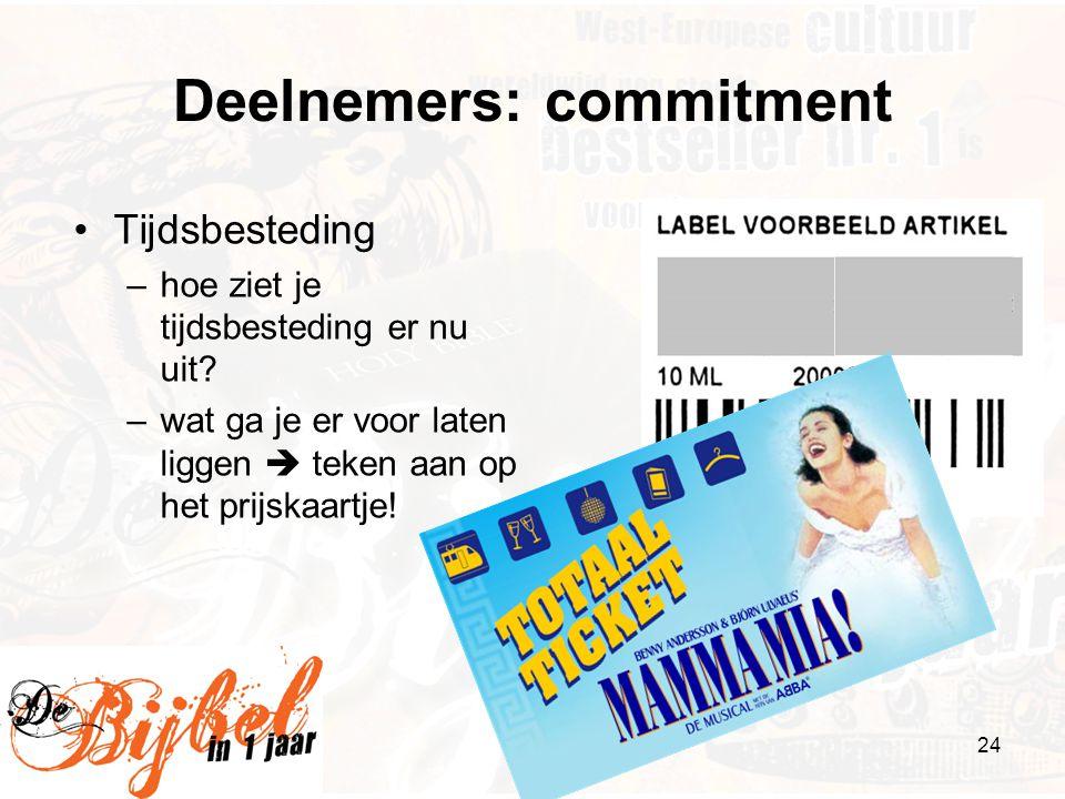 Deelnemers: commitment