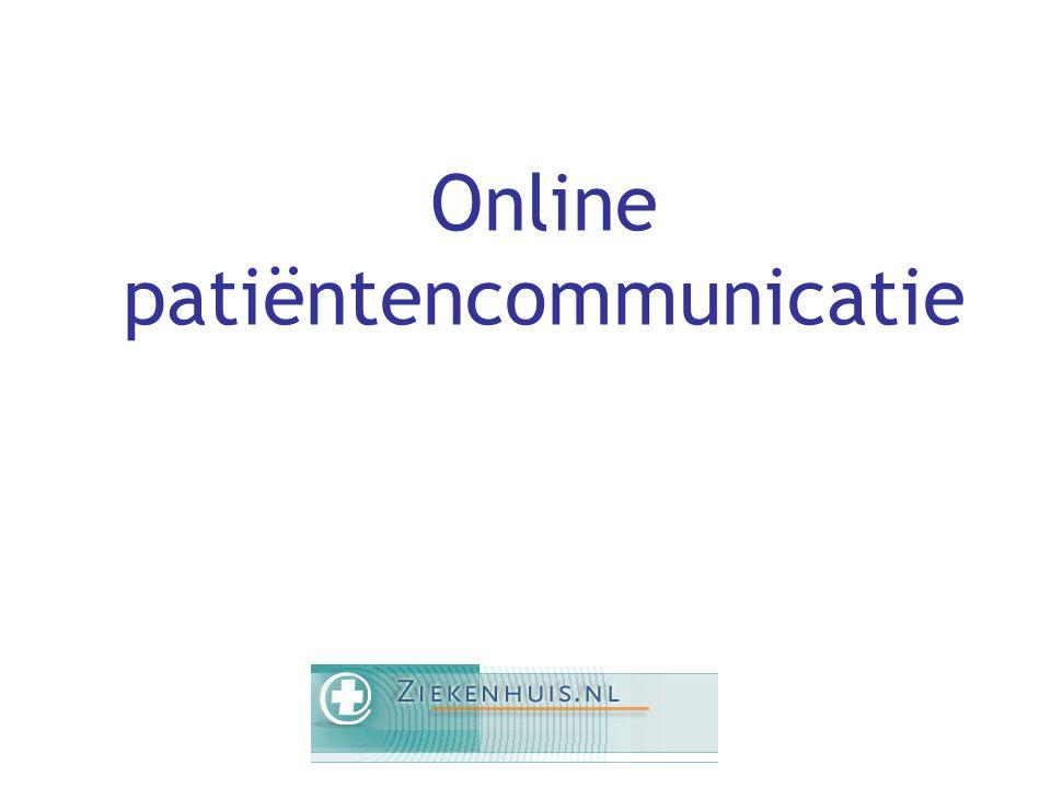 Online patiëntencommunicatie