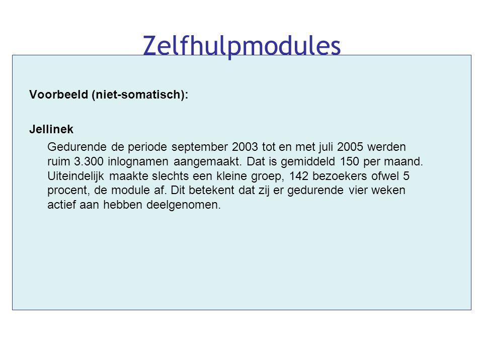 Zelfhulpmodules Voorbeeld (niet-somatisch): Jellinek