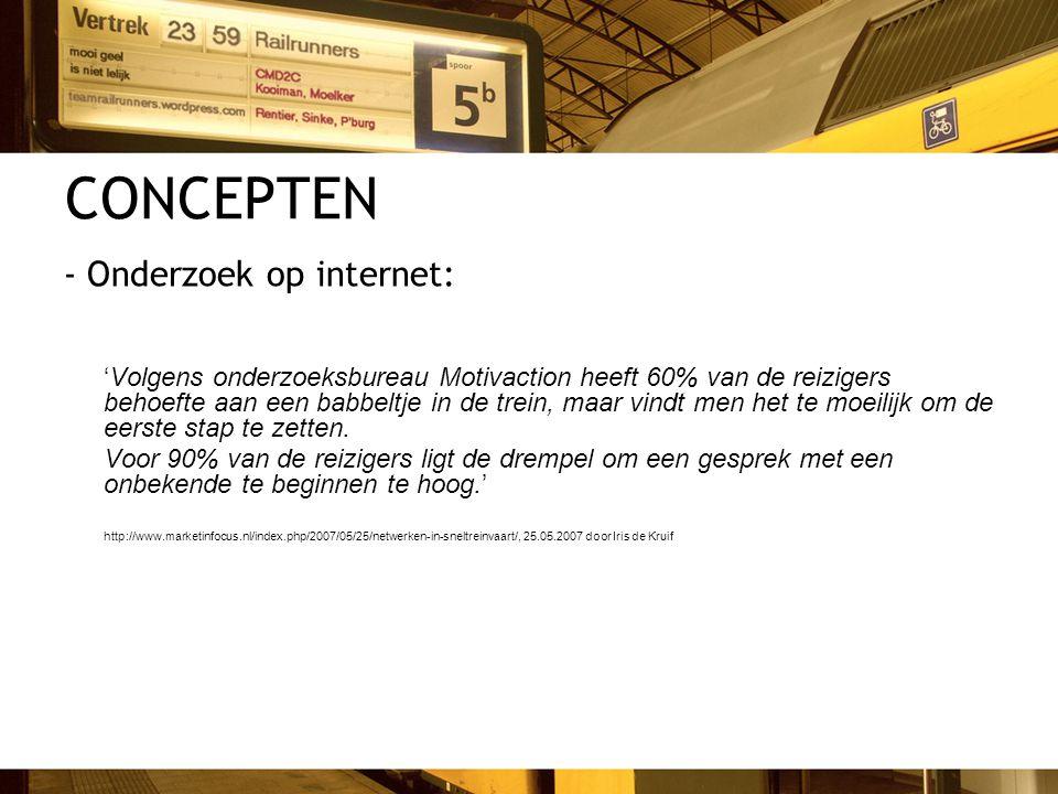 CONCEPTEN - Onderzoek op internet: