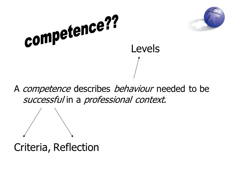 competence Levels Criteria, Reflection