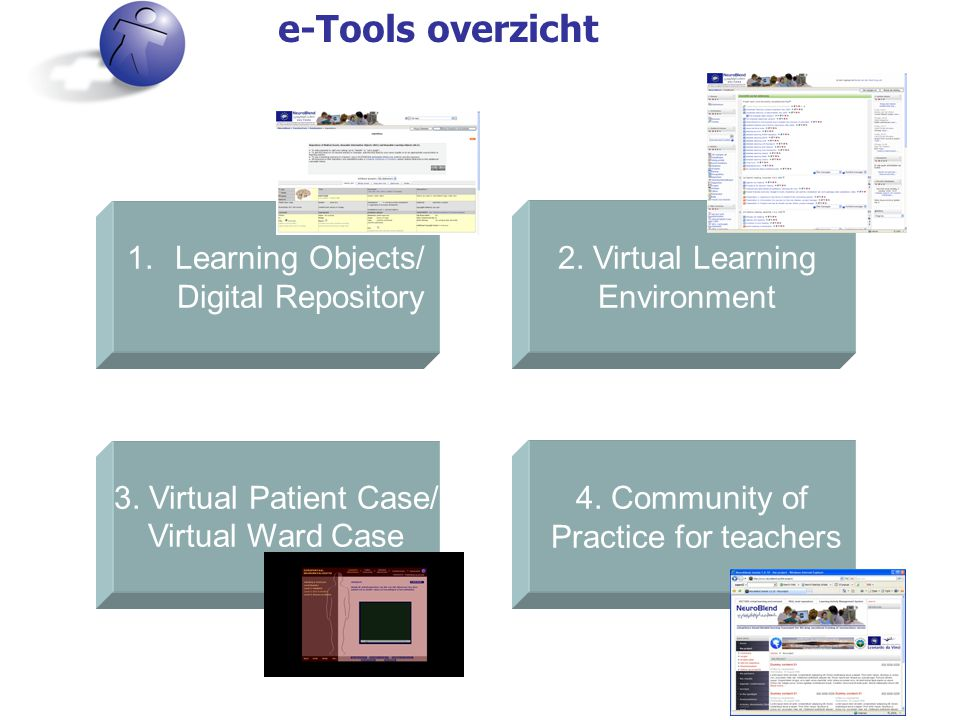 e-Tools overzicht 2. Virtual Learning Environment