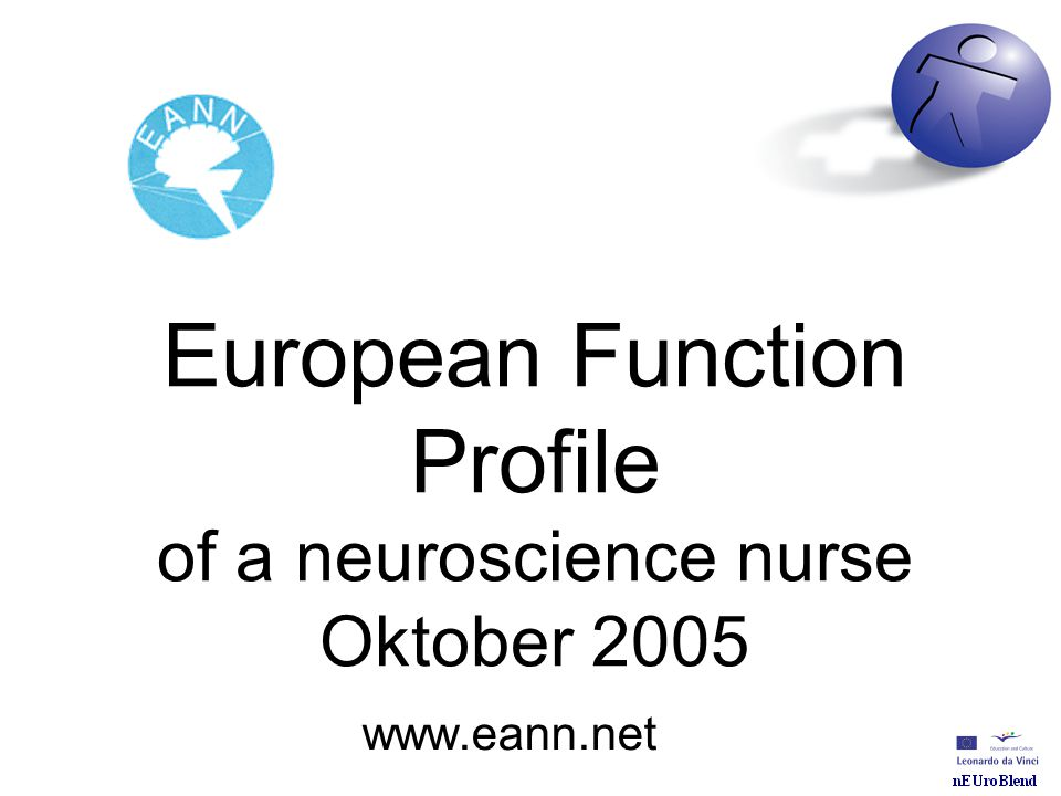 European Function Profile of a neuroscience nurse Oktober 2005