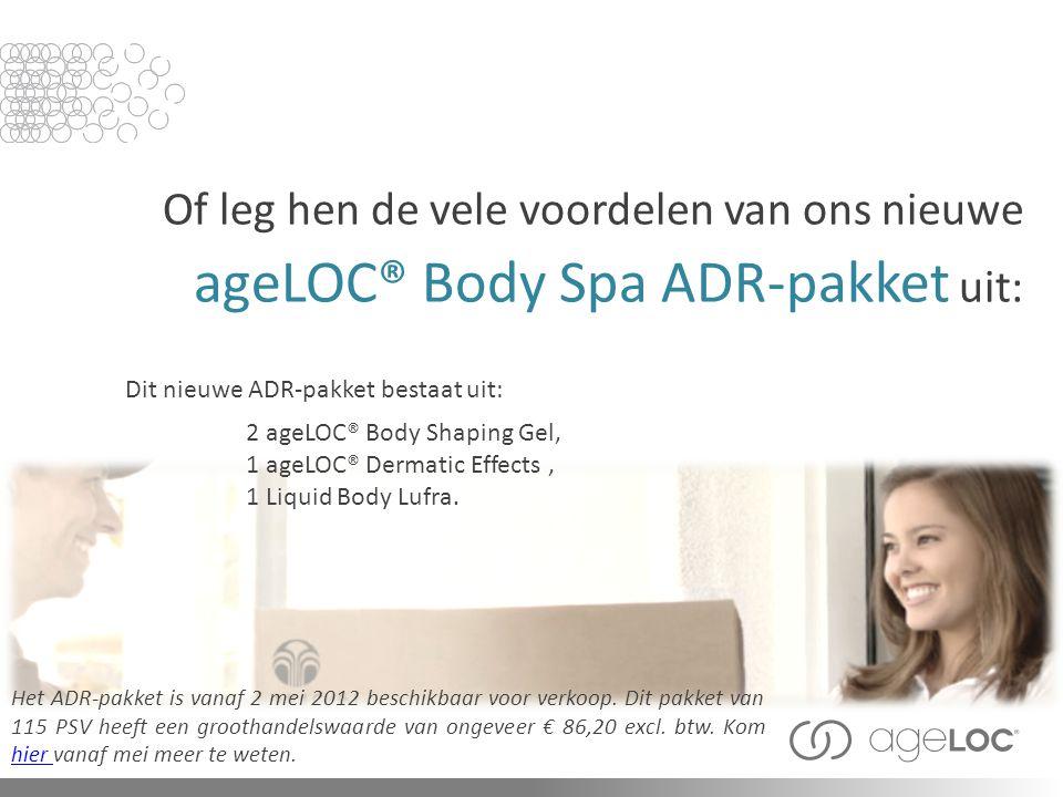 Dit nieuwe ADR-pakket bestaat uit: