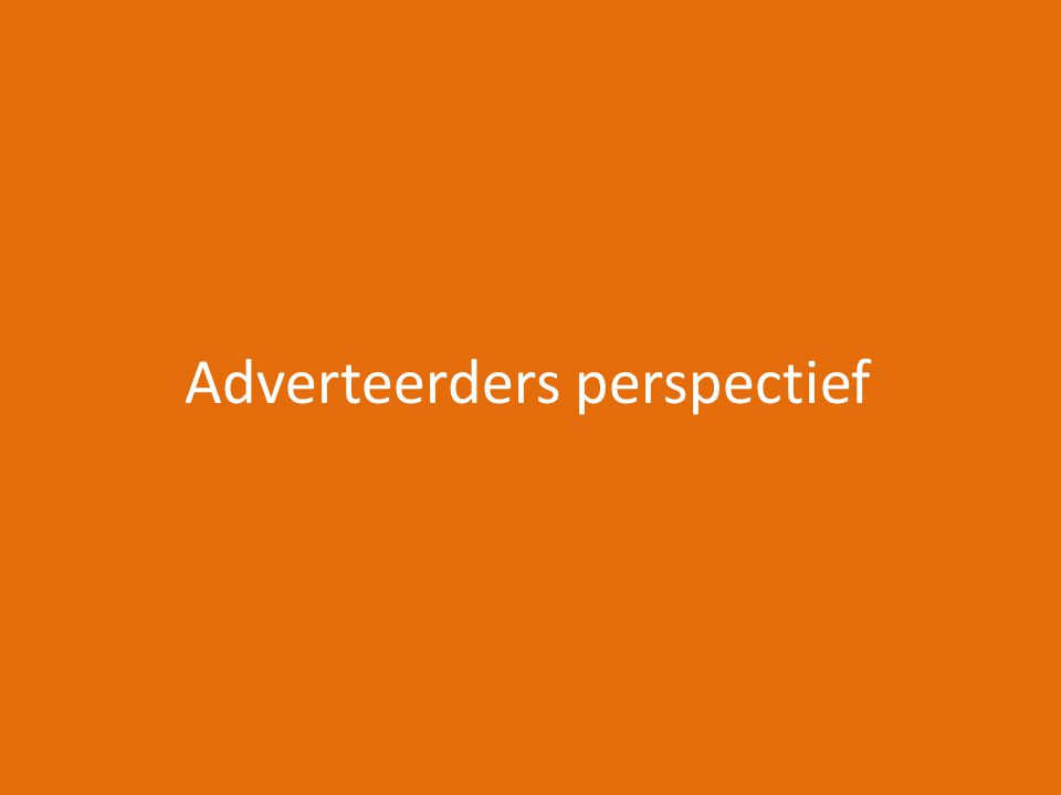 Adverteerders perspectief