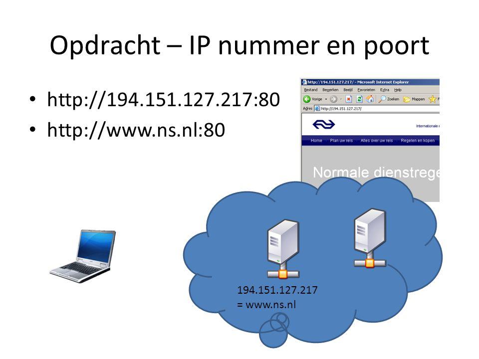 Opdracht – IP nummer en poort