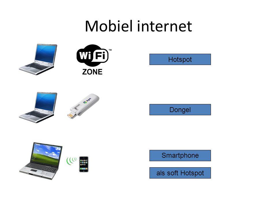 Mobiel internet Hotspot Dongel Smartphone als soft Hotspot