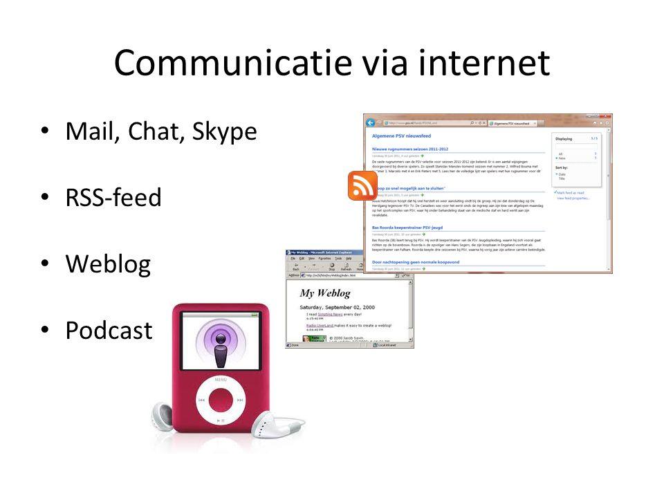 Communicatie via internet