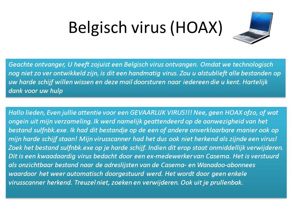 Belgisch virus (HOAX)