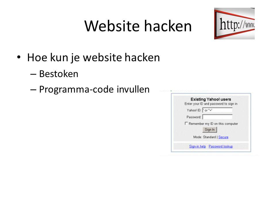 Website hacken Hoe kun je website hacken Bestoken