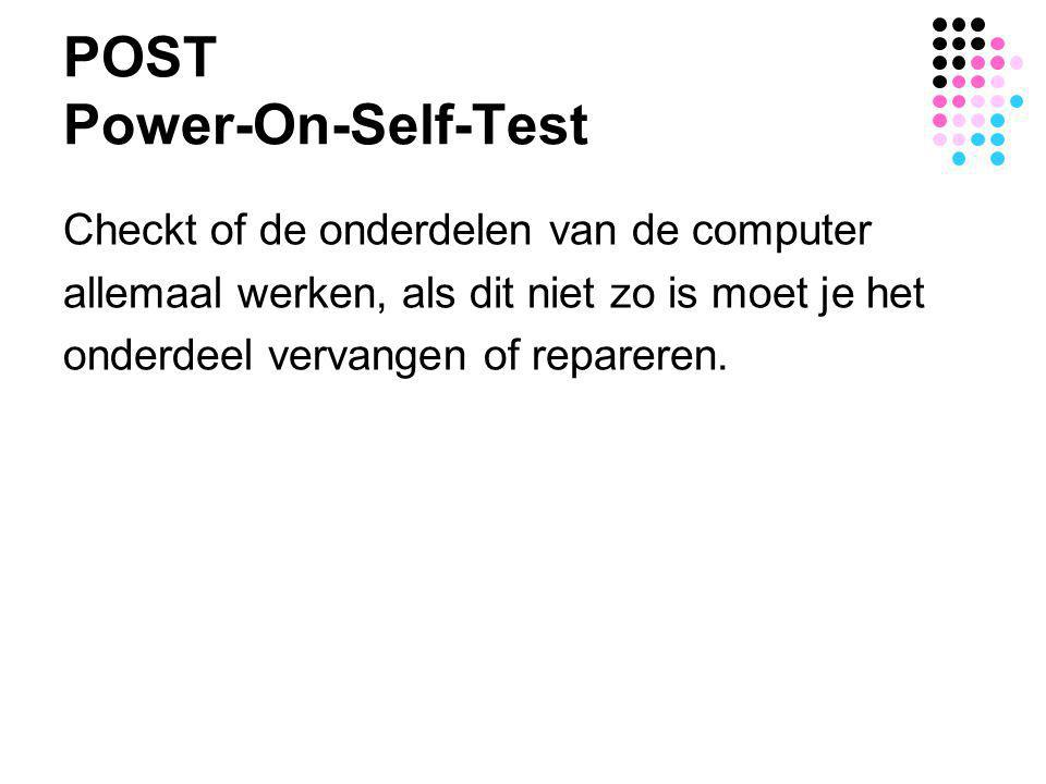 POST Power-On-Self-Test