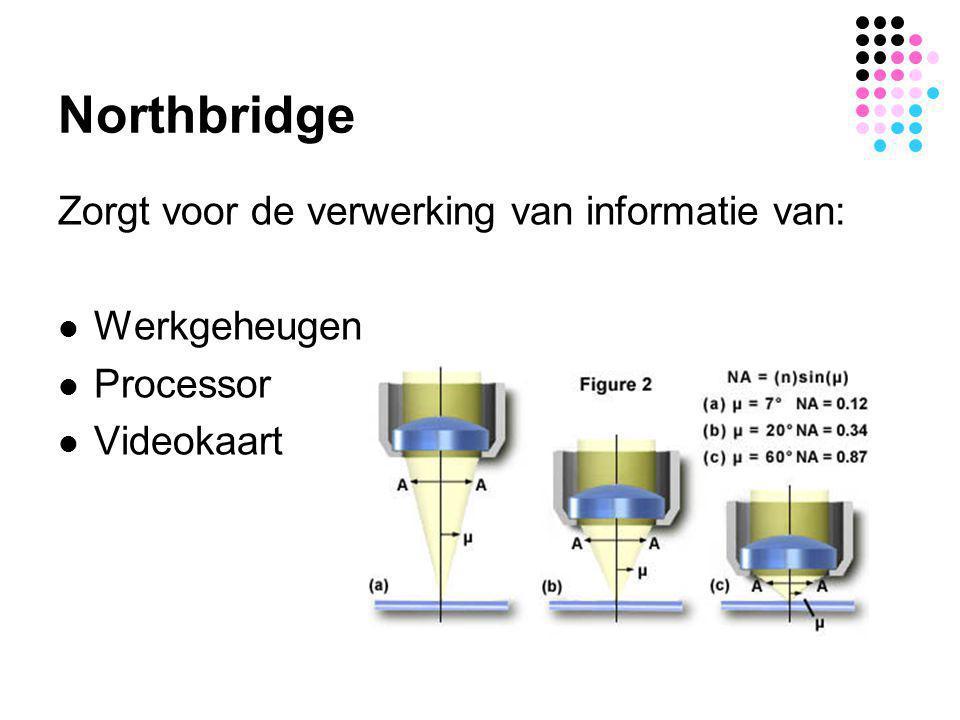 Northbridge Zorgt voor de verwerking van informatie van: Werkgeheugen