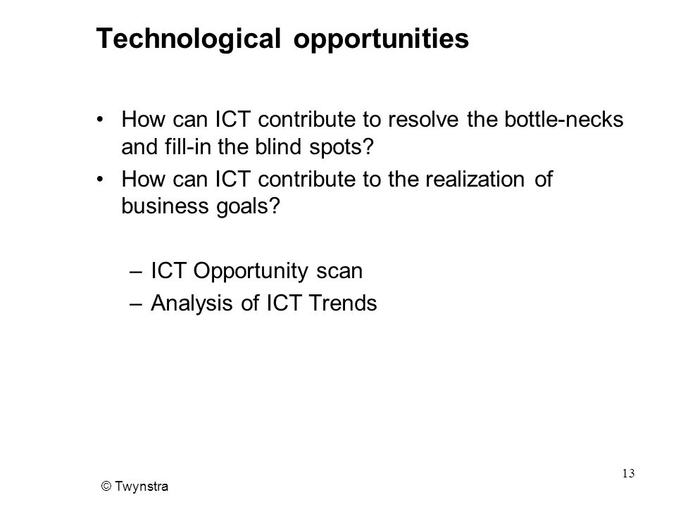 Technological opportunities