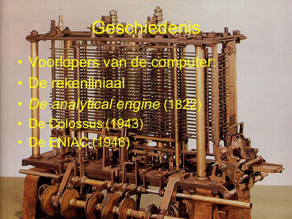 Geschiedenis Voorlopers van de computer: De rekenliniaal