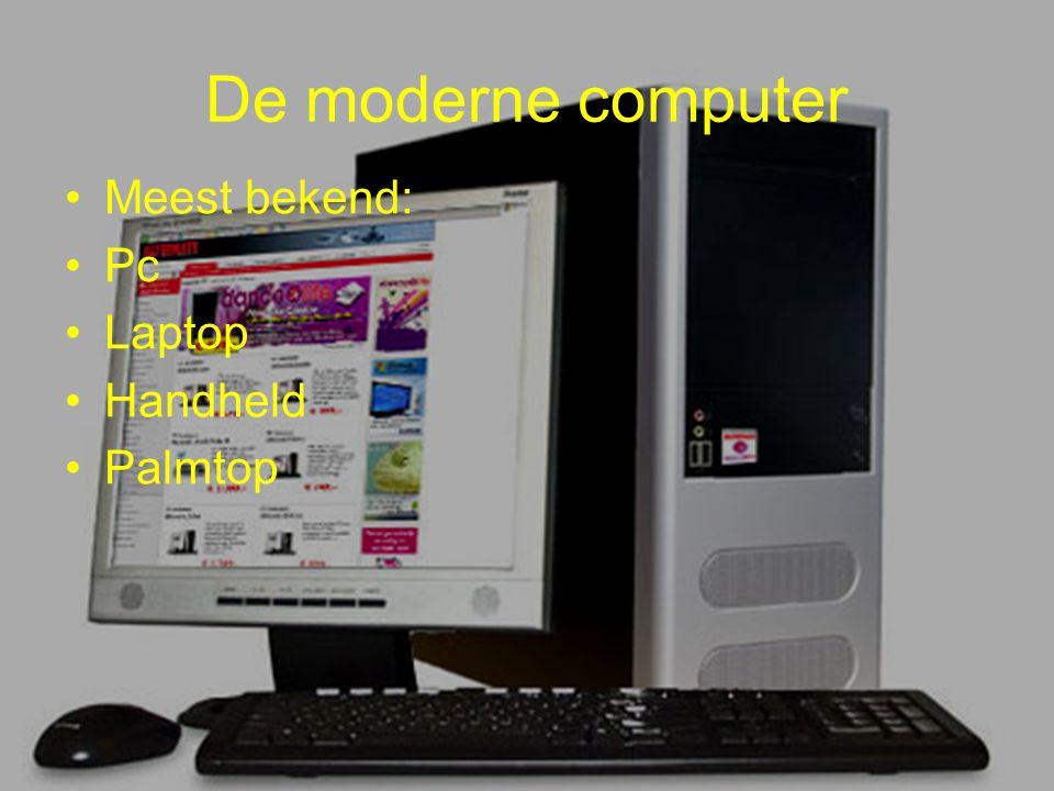 De moderne computer Meest bekend: Pc Laptop Handheld Palmtop