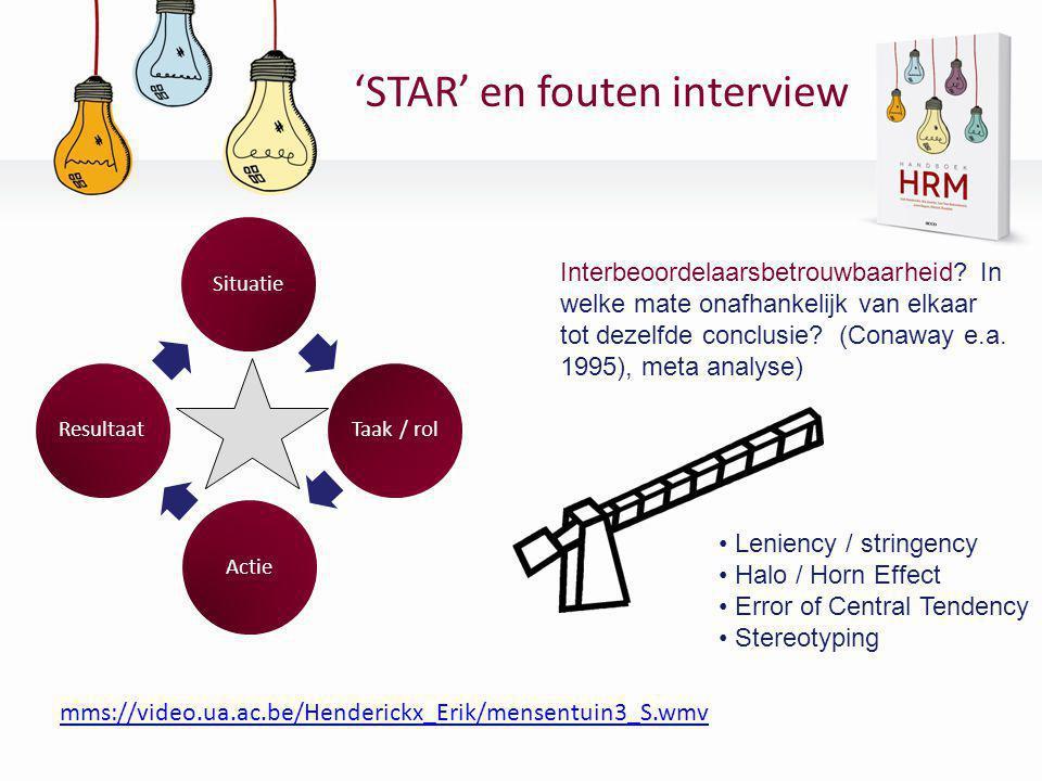 'STAR' en fouten interview
