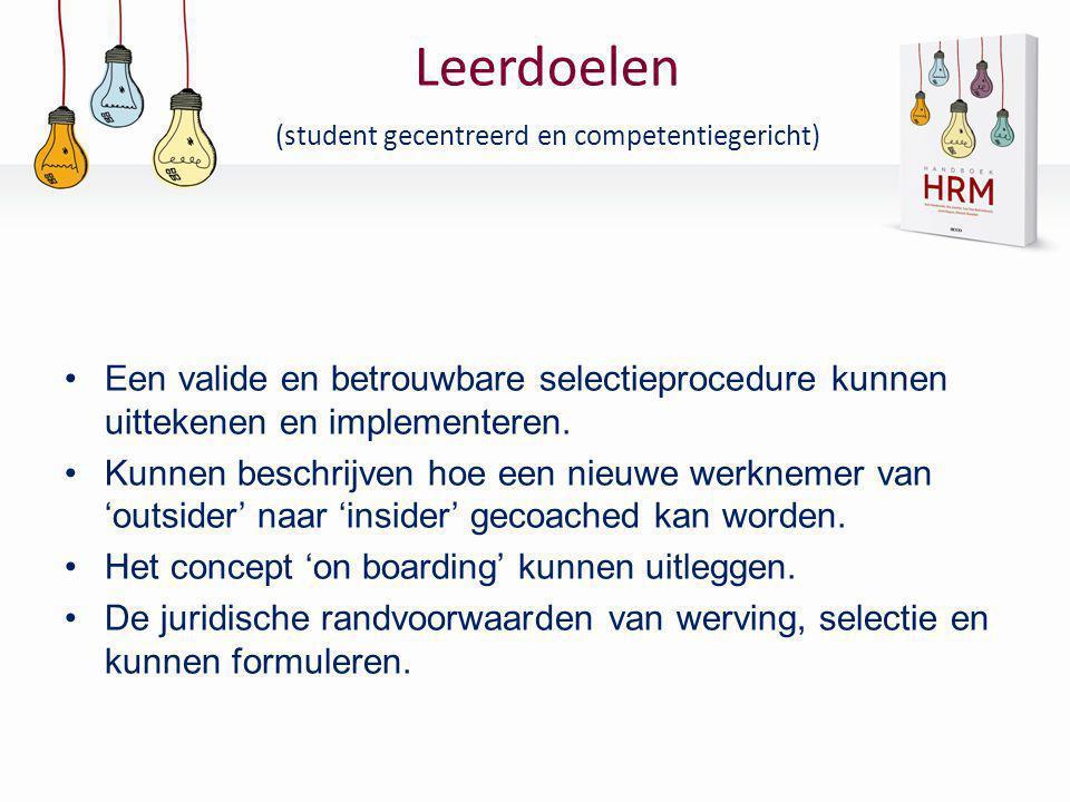 Leerdoelen (student gecentreerd en competentiegericht)