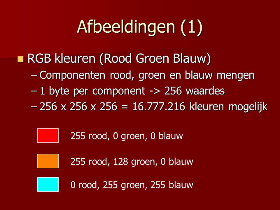 Afbeeldingen (1) RGB kleuren (Rood Groen Blauw)