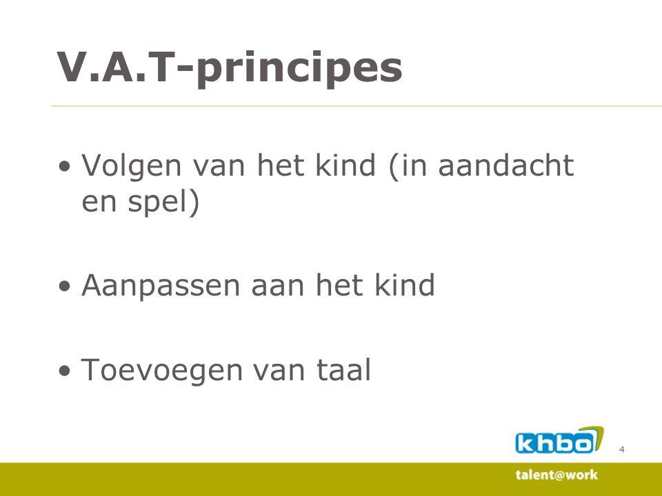 V.A.T-principes Volgen van het kind (in aandacht en spel)