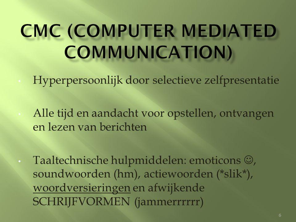 CMC (computer mediated communication)