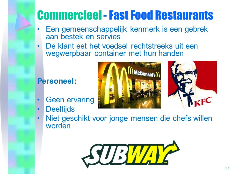 Commercieel - Fast Food Restaurants