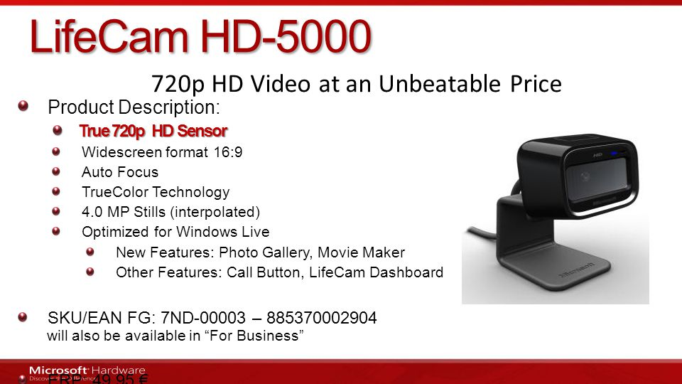 720p HD Video at an Unbeatable Price