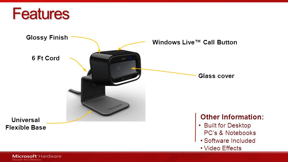 Windows Live™ Call Button Universal Flexible Base