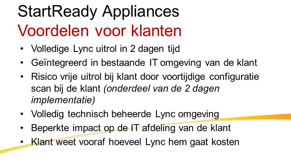 StartReady Appliances Voordelen voor klanten