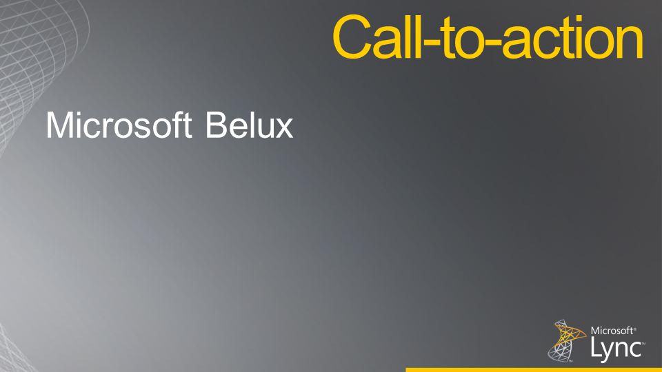Call-to-action Microsoft Belux