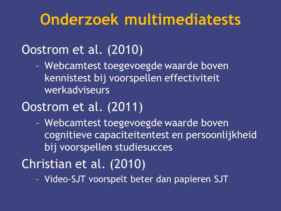 Onderzoek multimediatests
