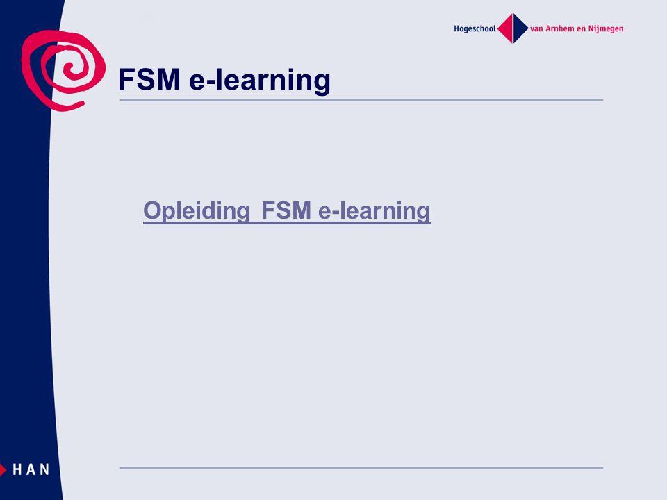 FSM e-learning Opleiding FSM e-learning