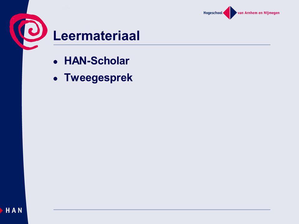 Leermateriaal HAN-Scholar Tweegesprek 04/04/2017