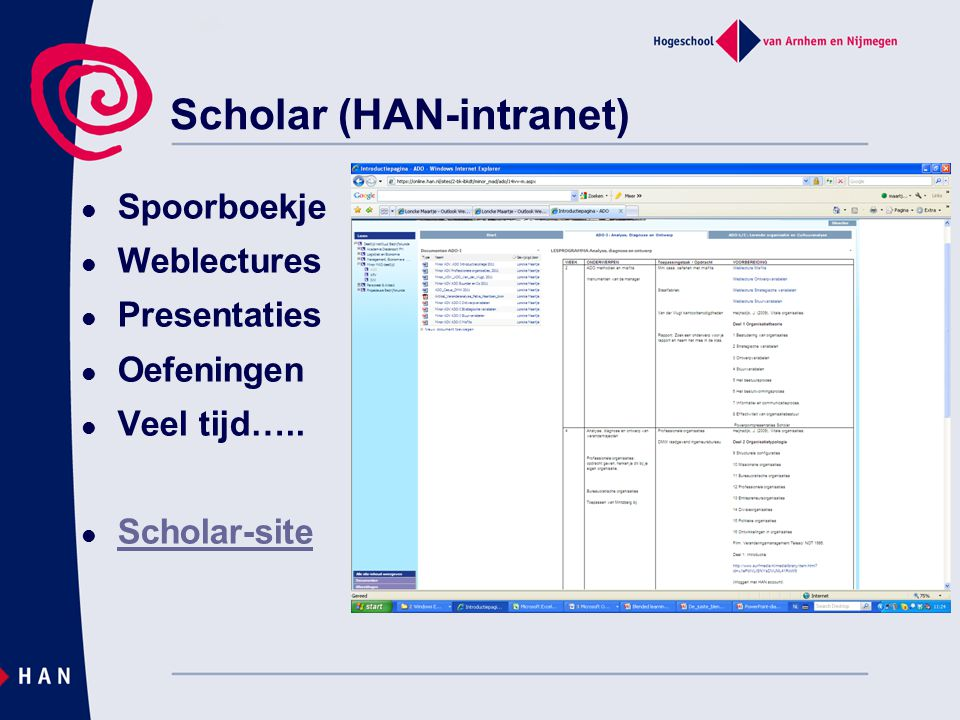 Scholar (HAN-intranet)