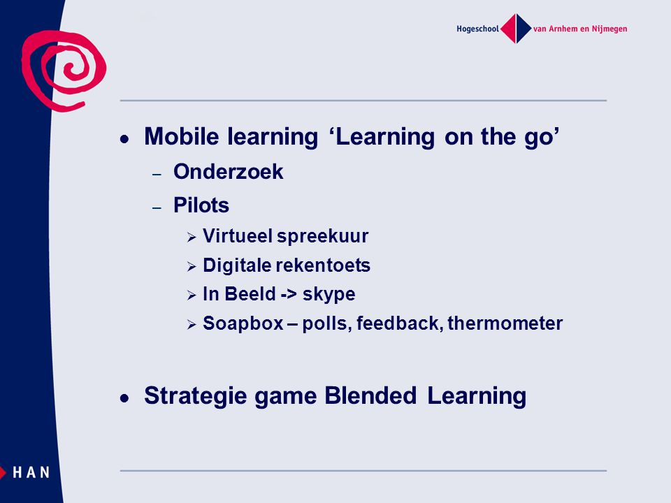 Mobile learning 'Learning on the go'