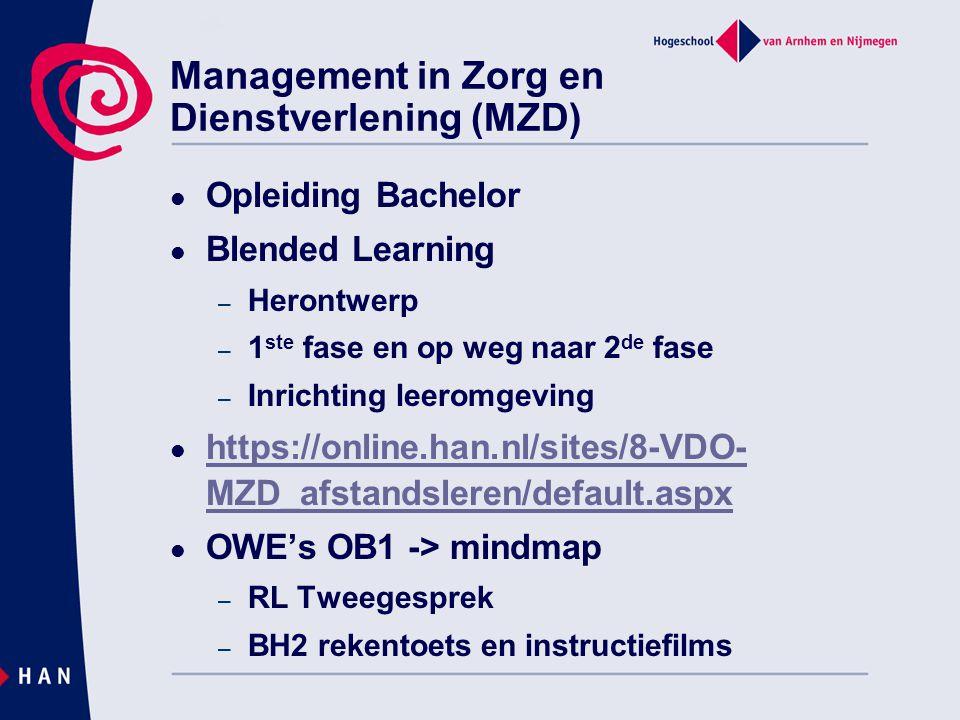 Management in Zorg en Dienstverlening (MZD)