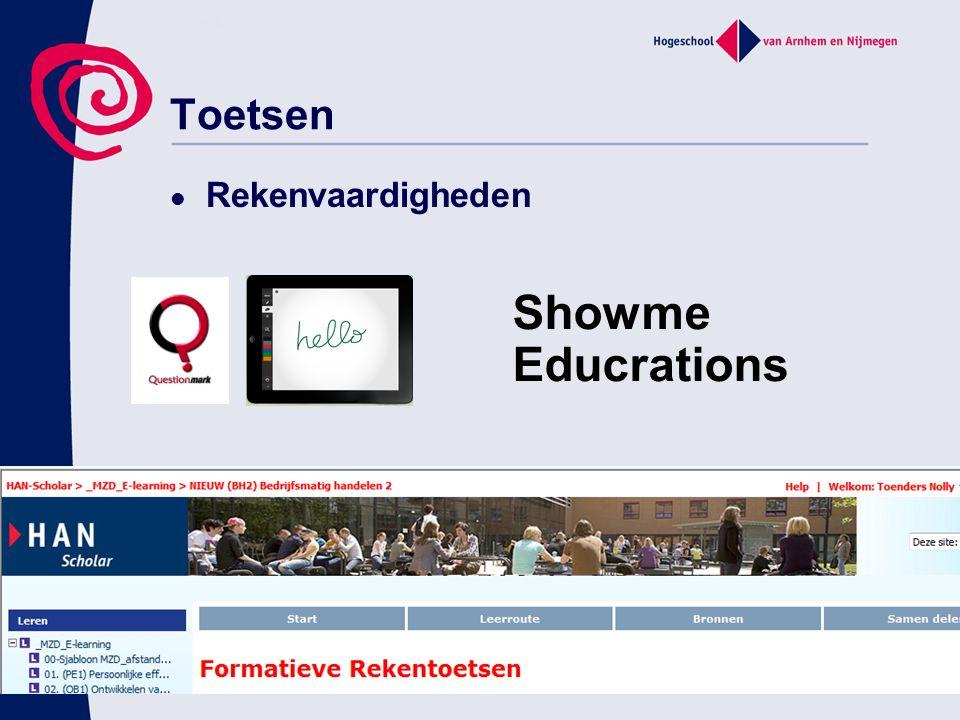 Showme Educrations Toetsen Rekenvaardigheden 04/04/2017