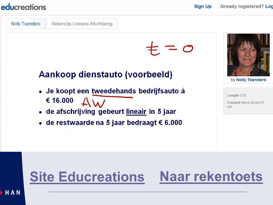 Site Educreations Naar rekentoets