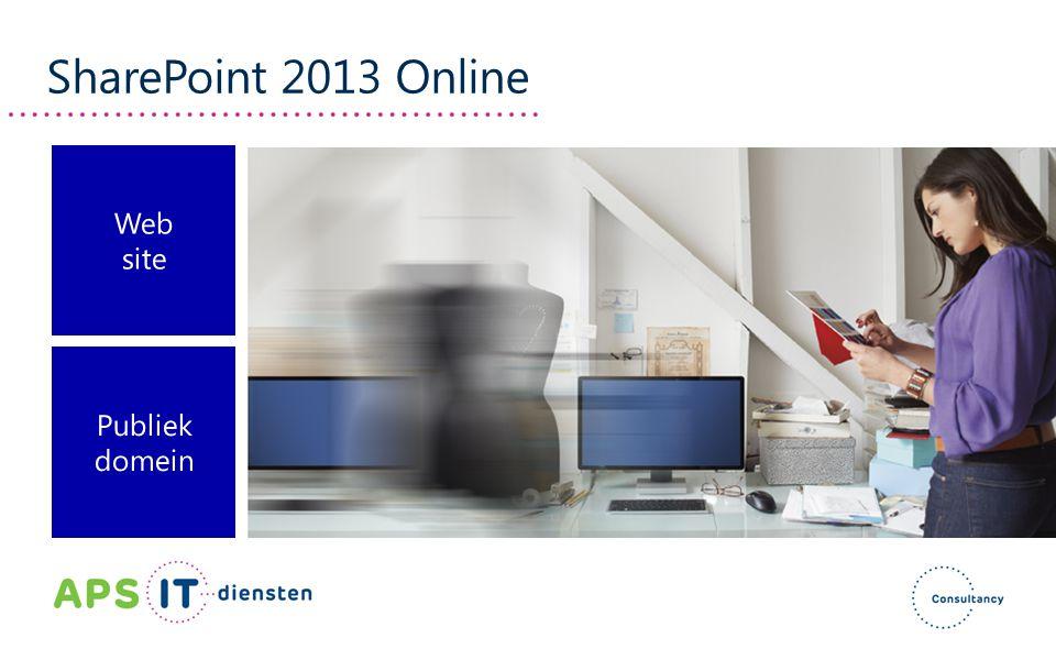 SharePoint 2013 Online Web site Publiek domein