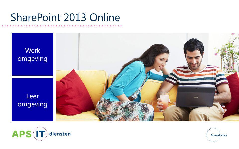 SharePoint 2013 Online Werk omgeving Leer omgeving
