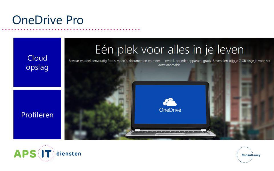 OneDrive Pro Cloud opslag Profileren