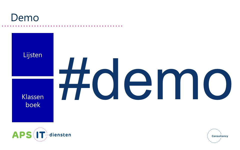 Demo Lijsten #demo Klassen boek